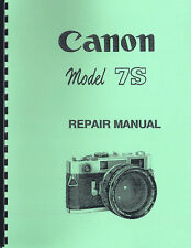 Canon 7S Rangefinder Camera Repair Manual
