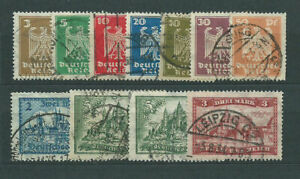 Alemania-Empire-Mail-1924-Yvert-348-58-Or