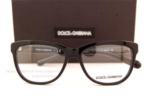 08c455c45d2d Brand New Dolce   Gabbana Eyeglass Frames DG 3244 501 Black Women SZ 55