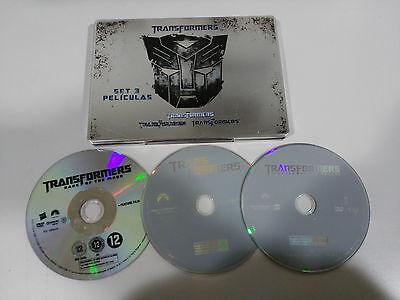 TRANSFORMERS 1 2 3 Trilogy Steelbook 3 X DVD Collection CASTELLANO ENGLISH