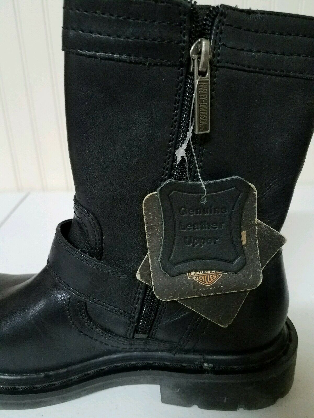 13 Harley Davidson boots, size 5, black black black leather, ankle length a77e83