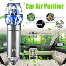 2 in 1 Car Dual USB Fresh Air Ionic Purifier Oxygen Bar Ozone Ionizer Cleaner US