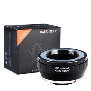 K-amp-F-Concept-M42-NIKON1-Lens-Adapter-for-M42-Lens-to-Nikon-1-Camera-V-1-J-1-V1-J1