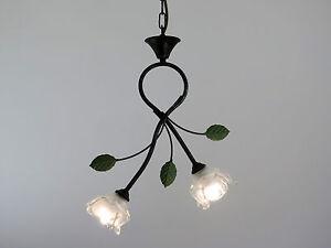 Lampadario Rustico Sospensione : Sospensione lampadario classico rustico country vetro ebay