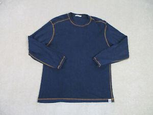 Agave Lux Shirt Adult Extra Large Blue Brown Long Sleeve Classit Fit Casual Men*