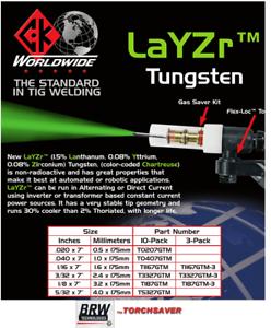 TIG Welding Torch Parts Tungsten Electrodes LAYZR Tungsten **new Premium***