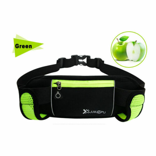 Gym Running Jogging Cycling Waist Belt Pack Pouch Sports Bag 280ml Water Bottles