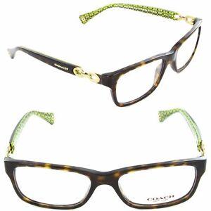 Coach Eyeglasses Fannie HC6052 5232 Dark Tortoise//Demo Lens