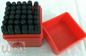 36pc-Number-and-Letter-Punch-Set-1-8-034-Hardened-Steel-Metal-Die-Jewelers-w-Case