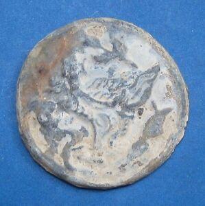18th circa.--SOUTHEAST ASIA-ANCIENT COIN---MAN-FACED BIRD--45 mm.