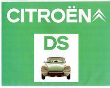 Citroen DS 1973-75 UK Market Sales Brochure Special Super 5-21 23 Pallas EFi