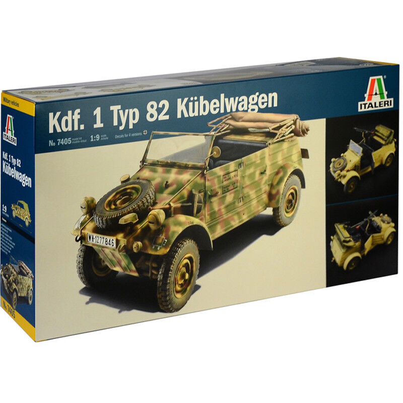 Italeri Kdf. 1 Typ 82 Kübelwagen Model Kit (Scale 1 9) - 7405 - NEW