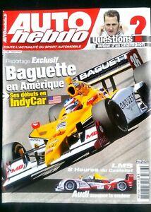 Adroit Auto Hebdo Du 14/04/2010; Baguette En Indycar/ Schumacher/ 8 H Du Castellet