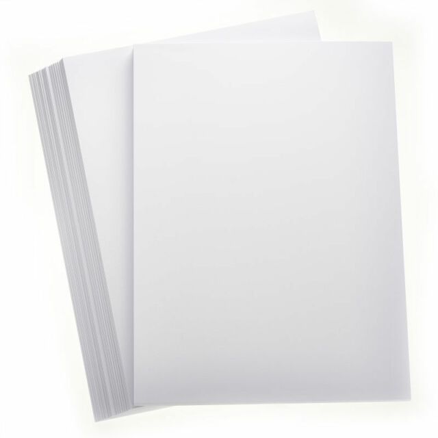 50 SHEETS SNOW WHITE A4 SMOOTH CARD 160GSM CRAFT HOBBY PRINTER CARDMAKING