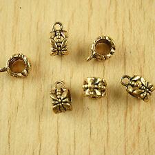 8Pcs dark gold-tone cross charms Findings h1323