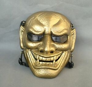 Red Bronze Airsoft Paintball ABS Full Protection Evil Oni Noh Hannya Mask JD34
