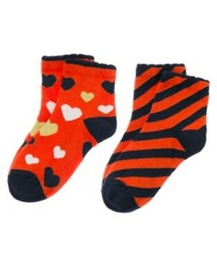 GYMBOREE SUNNY CITRUS STRIPE N POLKA DOTS 2-pair OF GIRLS SOCKS S M L  NWT