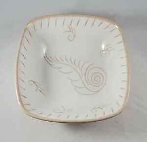 "Vintage Glidden Art Pottery Feather Small Bowl 6"" #210"