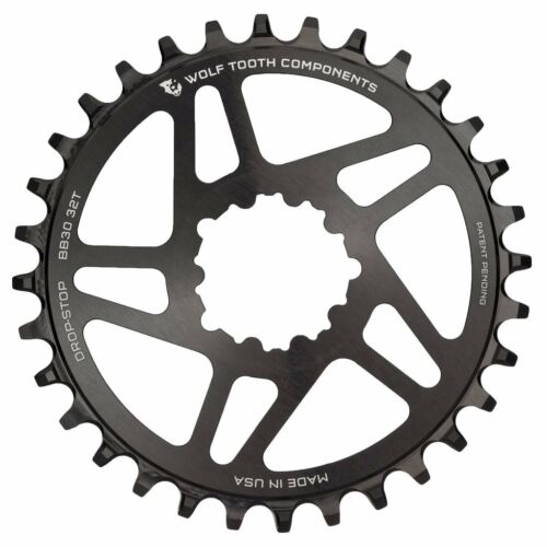 New Wolf Tooth Direct Mount BB30 32T Drop-Stop Chainring Round Black