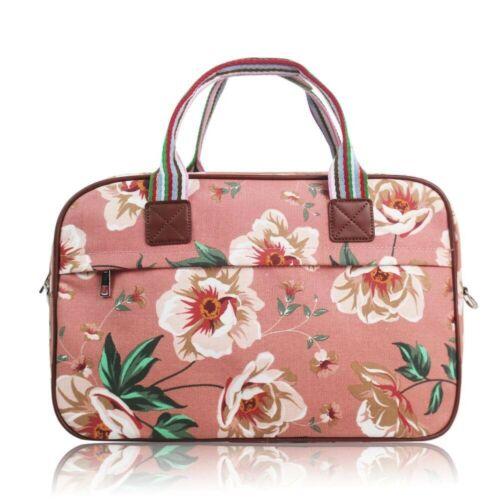 Woman Girl Canvas L-Medium Shoulder Handbag Medium Weekender Picnic Travel Bag