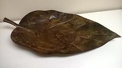 """Z Gallerie Montego Leaf Platter, Brown 24.5"""""""