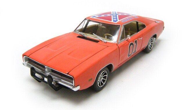 1969 Dodge cargador Dukes De Hazzard General Lee arancia por Johnny Lightning 1 18
