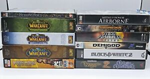 Lot-11-PC-Games-Windows-Mac-World-Warcraft-Stronghold-Airborne-Demigod-Tomb