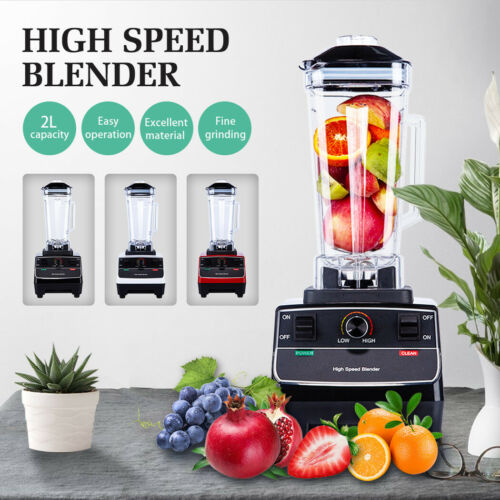 2200W Commercial Blender 2L Food Processor Mixer Smoothie Juicer Ice Crusher