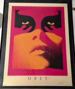 Shepard-Fairey-Obey-SHADOWPLAY-ORANGE-Signed-Numbered-159-350-Screen-Print