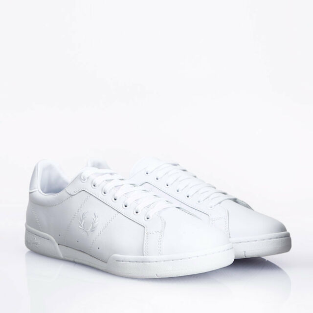 Fred Perry B721 Leather White Mens
