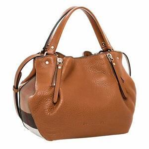 Burberry-Maidstone-Tote-Small-Shoulder-Bag-Brown-Leather-New