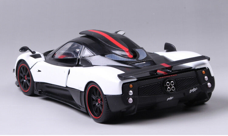 1 18 Scale Diecast White&Black Pagani Zonda Vehicle Sports Car Model Toy Gift