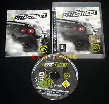 NEED FOR SPEED PROSTREET Ps3 Pro Street Versione Italiana 1ª Edizione • COMPLETO