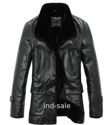 Custom Tailor Made All Size Genuine Blazer Pea Coat Nappa FUR Leather Jacket