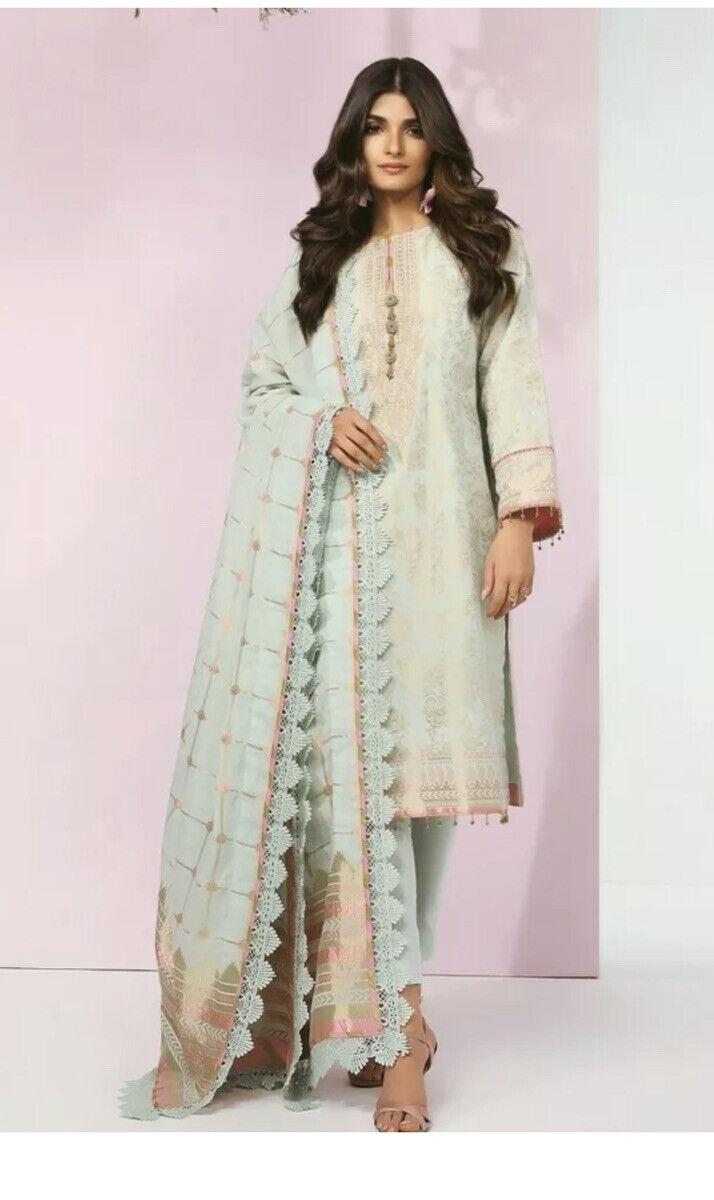 Designer Pakistani Suit AL Karam 3 Piece Jacquard Stitched New Extra Small