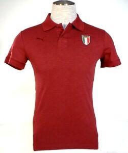 Details about Puma Italia FIGC Italian Football Federation Short Sleeve Polo Shirt Men's NWT