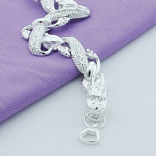 Drachen Armband 925 Sterling Silber plattiert Schmuck Drache Damen Herren