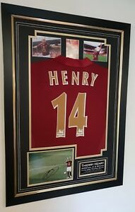 e1a3e76adb1 THIERRY HENRY of Arsenal Signed Photo and Shirt Display Last MATCH ...