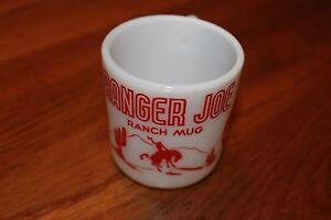 VINTAGE-HAZEL-ATLAS-RANGER-JOE-RANCH-MUG-RED-COLOR-Coffee-mug