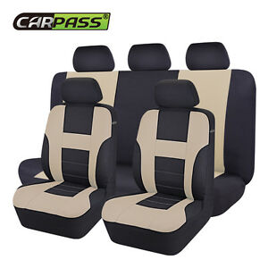 Car pass auto car seat covers interior accessories beige - Car seat covers for tan interior ...