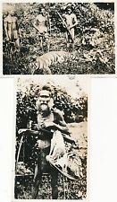 Photograph Borneo witch doctor tiger circa 1930s HPP