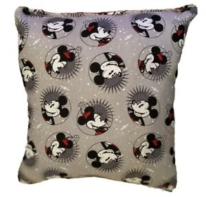 Mickey & Minnie Mouse Pillow Classic Disney Pillow Handmade in USA
