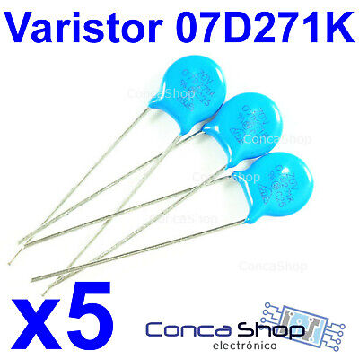 5 X VARISTOR 07D271K  Ø 7mm VDR Metal Oxide VARISTOR MOV 07D271K ESPAÑA