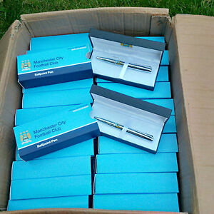 24 x Man City Executive Pen Sets-Football Wholesale/Job Lot/Bulk - Free Postage