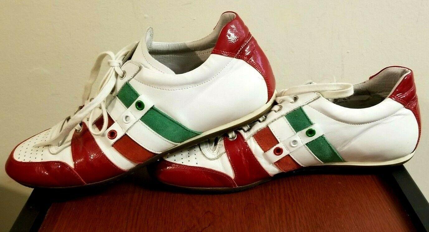 RARE Giorgio 1958 shoes Italian Flag colors Homemade Leather Euro Size 44 US 11