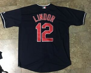 fe48a37a2 Image is loading Mens-Francisco-Lindor-Jersey-Cleveland-Indians-Majestic -Coolbase-