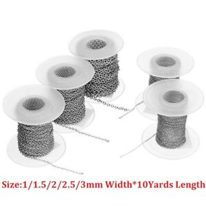 10yards-roll-1-1-5-2-2-5-3mm-Stainless-Steel-Link-Chain-Fit-Necklace-Diy-Making