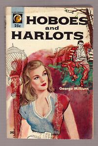 Hoboes-and-Harlots-G-Milburn-vintage-1954-Lion-202-PB-GGA-sex-sleaze-EX-cond