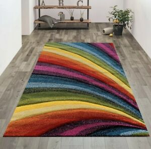 Small Modern Bright Colourful Rug Rugs