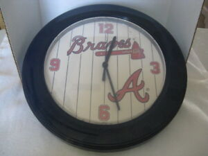 Image is loading Atlanta-Braves-Wall-Clock-Gift-Idea